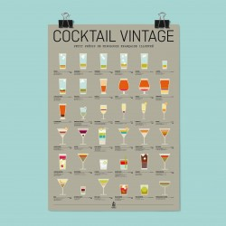 AFFICHE COCKTAIL VINTAGE