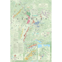 POSTER WINE MAP GERMANY (anglais)